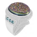 Druzy Stone Ring Nrb5900-DZ-R ~ FREE SHIPPING ~