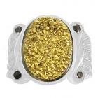 Druzy Stone Ring Nrb5897-DZ-R ~ FREE SHIPPING ~