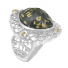 Gold Flake Ring Nrb5847-GL-R