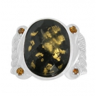 Gold Flake Ring Nrb5897-GL-R
