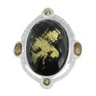 Gold Flake Ring Nrb5917-GL-R