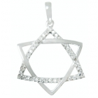 Micro Pave Pendant Star of David Np8777 ~ FREE SHIPPING ~