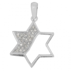 Micro Pave Designed Pendant Star of David Np8782 ~ FREE SHIPPING ~