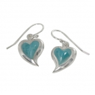 Larimar Silver Earrings 0054 ~ FREE SHIPPING ~