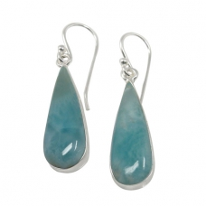 Larimar Silver Earrings 1237 ~ FREE SHIPPING ~
