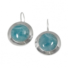 Larimar Silver Earrings 1497 ~ FREE SHIPPING ~