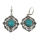 sterling silver turquoise earrings NEA1976/STQ ~ FREE SHIPPING ~