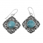 Larimar Silver Earrings 2013 ~ FREE SHIPPING ~