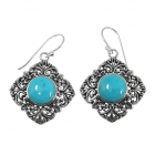sterling silver turquoise earrings NEA2013/STQ ~ FREE SHIPPING ~