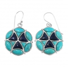 sterling silver turquoise earrings NEA2025/STQ ~ FREE SHIPPING ~