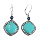 sterling silver turquoise earrings NEA2133/STQ ~ FREE SHIPPING ~