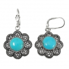 sterling silver turquoise earrings NEA2141/STQ ~ FREE SHIPPING ~