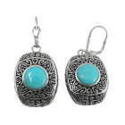 sterling silver  turquoise earrings NEA2142/STQ ~ FREE SHIPPING ~