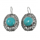 sterling silver turquoise earrings NEA2143/STQ ~ FREE SHIPPING ~