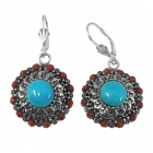 sterling silver turquoise earrings NEA2145/STQ ~ FREE SHIPPING ~