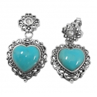 sterling silver turquoise earrings NES2224/STQ ~ FREE SHIPPING ~