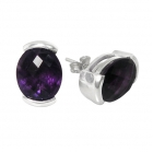 Amethyst Earrings 0962/CKB/AME ~ FREE SHIPPING ~