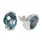 Earrings Blue Topaz 0962 ~ FREE SHIPPING ~
