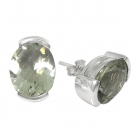 Green Amethyst Earrings 0962 ~ FREE SHIPPING ~