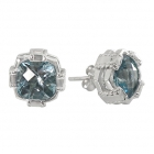 Earrings Blue Topaz 1452 ~ FREE SHIPPING ~