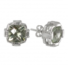 Green Amethyst Earrings 1452 ~ FREE SHIPPING ~