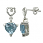 Earrings Blue Topaz 1453 ~ FREE SHIPPING ~