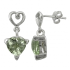 Green Amethyst Earrings 1453 ~ FREE SHIPPING ~
