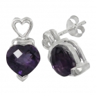 Amethyst Earrings 1454/CKB/AME ~ FREE SHIPPING ~