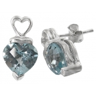 Earrings Blue Topaz 1454 ~ FREE SHIPPING ~