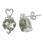 Green Amethyst Earrings 1454 ~ FREE SHIPPING ~