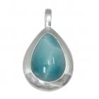 Larimar Silver Pendant 0220 ~ FREE SHIPPING ~