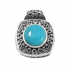 silver turquoise pendant NP7514/STQ ~ FREE SHIPPING ~