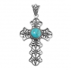 silver turquoise pendant NP7517/STQ ~ FREE SHIPPING ~