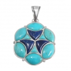 silver turquoise pendant NP7558/STQ ~ FREE SHIPPING ~