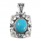 silver turquoise pendant NP7889/STQ ~ FREE SHIPPING ~