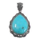 silver turquoise pendant NP7929/STQ ~ FREE SHIPPING ~