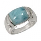 Larimar Ring 0764 ~ FREE SHIPPING ~