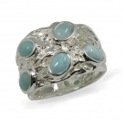Larimar Ring 0971 ~ FREE SHIPPING ~