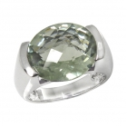 Green Amethyst Ring 2006/R ~ FREE SHIPPING ~