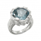 Silver Blue Topaz Ring 4083/R ~ FREE SHIPPING ~