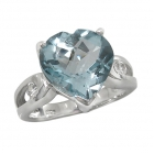 Silver Blue Topaz Ring 4091/R ~ FREE SHIPPING ~