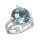 Silver Blue Topaz Ring 4152/R ~ FREE SHIPPING ~