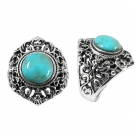 silver turquoise ring NRB4870/STQ ~ FREE SHIPPING ~