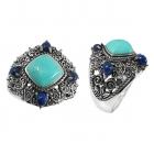 silver turquoise ring NRB5154/STQ/LP ~ FREE SHIPPING ~