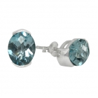 Earrings Blue Topaz 1455 ~ FREE SHIPPING ~