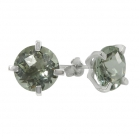 Green Amethyst Earrings 1467 ~ FREE SHIPPING ~