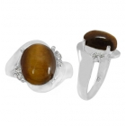 Tigers Eye Ring 3149/WCZ/R ~ FREE SHIPPING ~
