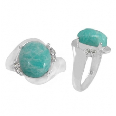Amazonite Ring 3149/WCZ/R ~ FREE SHIPPING ~