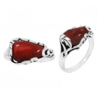 Sponge Coral Ring 3344/OXI ~ FREE SHIPPING ~