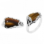Tigers Eye Ring 3344/OXI ~ FREE SHIPPING ~
